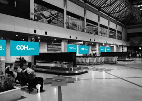 Top Wall of Baggage Claim Area